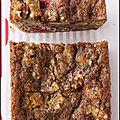 Gâteau de pain au citron-amandes-framboises