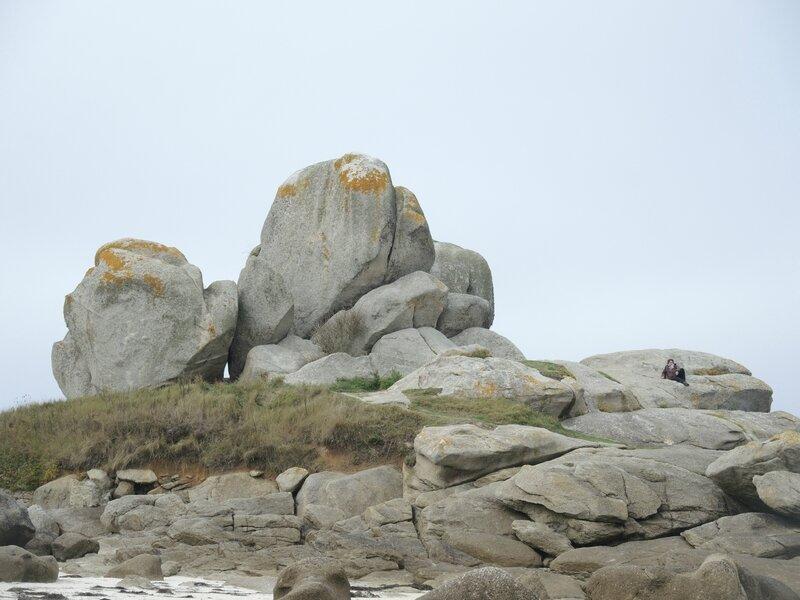 Brignogan-Plage, plage Pors Pol, rochers (29)