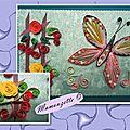 Carte quilling avec un papillon pour dire merci
