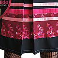 Robe trapèze Chasuble Noire Rose à dentelle Graphique rétro à la coupe Sixties et dentelle sur résille Rouge à fleurs
