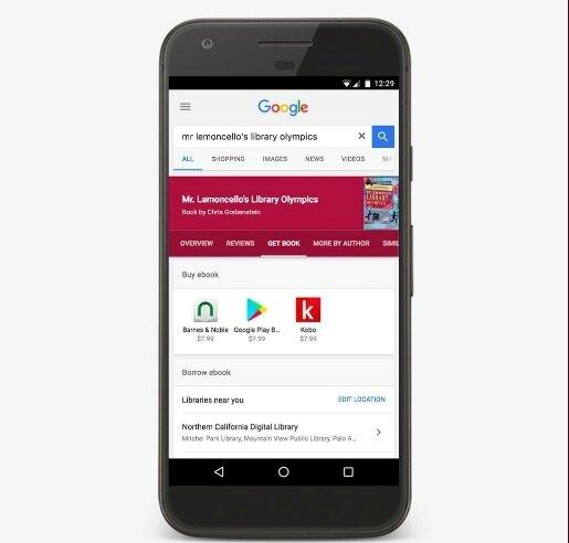 Empruntez des livres dans votre bibliothèque avec Google