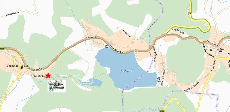 carte chambon sur lac