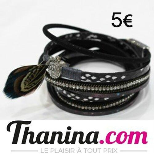 bracelet 2 tours aimanté plume