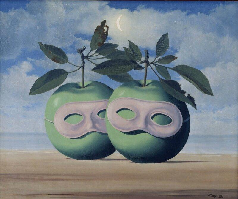 rené magritte les pommes masquées 1966