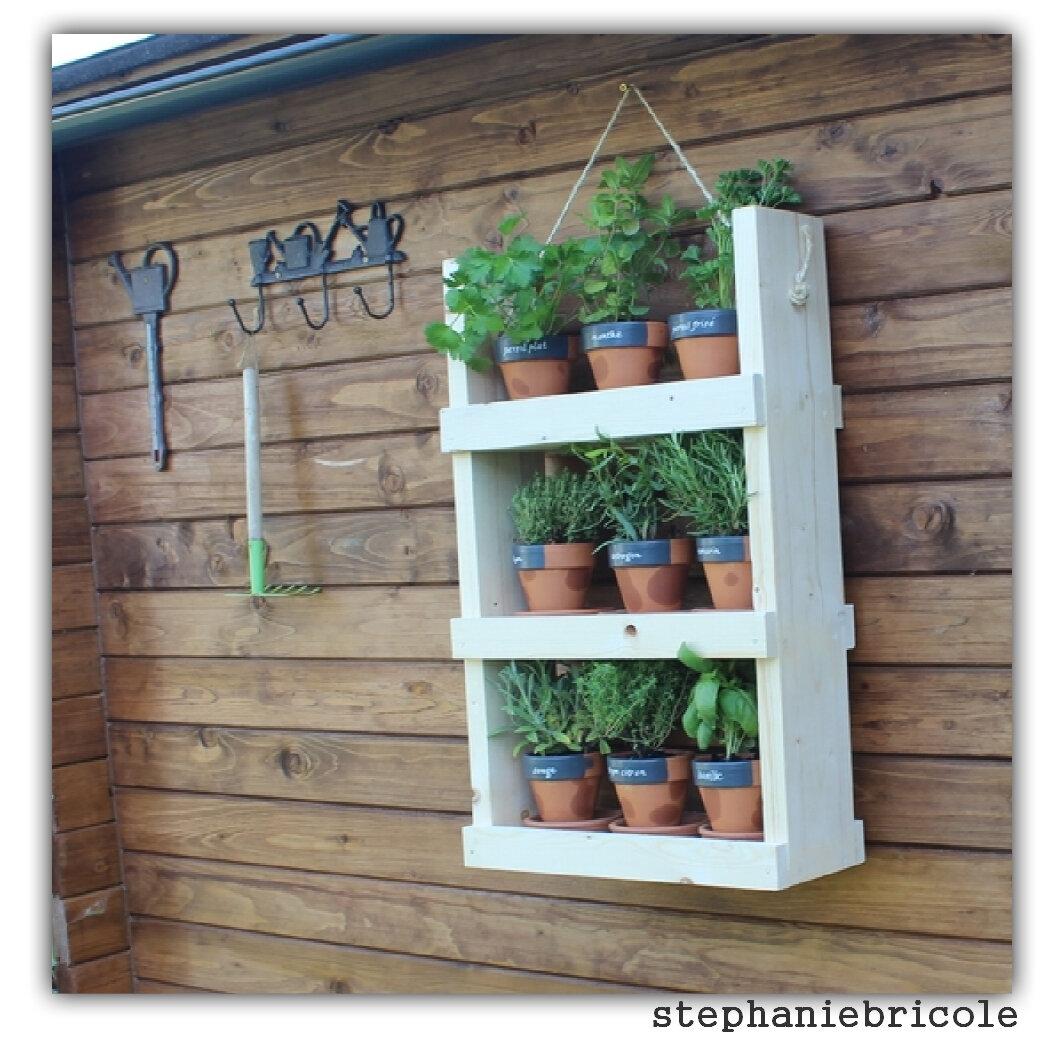 DIY déco - Jardinière aromatiques sur le chalet