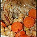 P'tites souris d'agneau braisées aux carottes, pois chiches et à l'orange