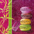 Carte macarons - Création Catherine Martini