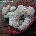 Croissants de lune à la vanille ou la petite douceur du weekend...