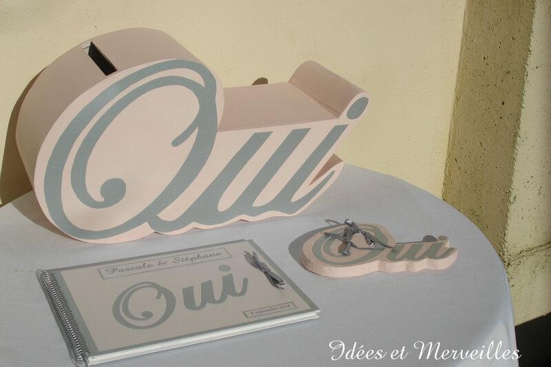 urne mariage oui - idees et merveilles