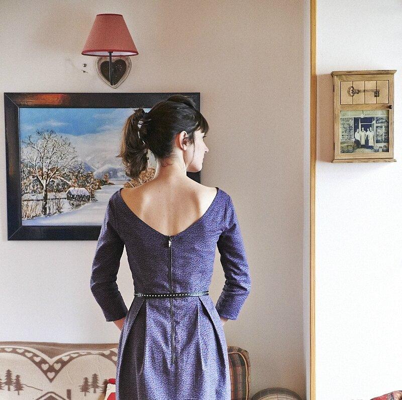 Robe Bordeaux Romanne Couture 3
