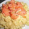 Risotto au saumon et chou chinois au micro'vap tupperware