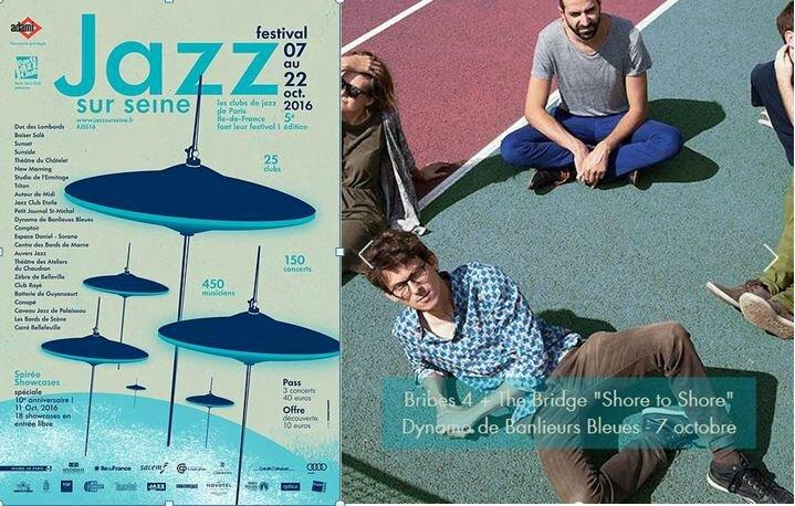 Jazz sur Seine 2016 Bribe4 et Affiche