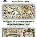 Conférence sur la cartographie du xve au xviiie