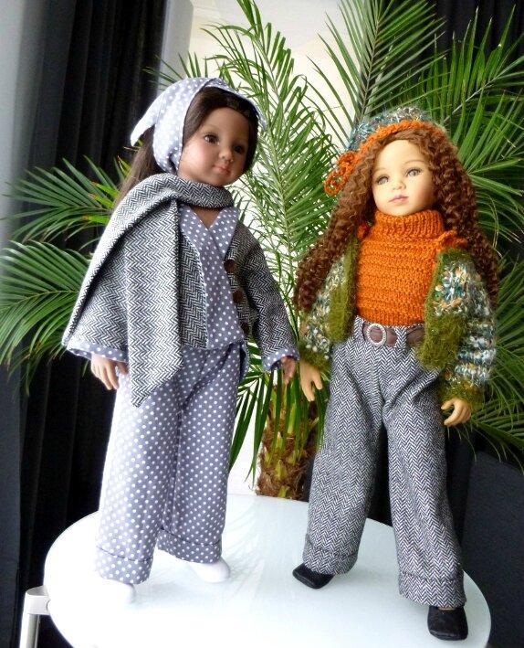 Raven et Tanya portent des tenues Doll Family : Lichen et Potiron