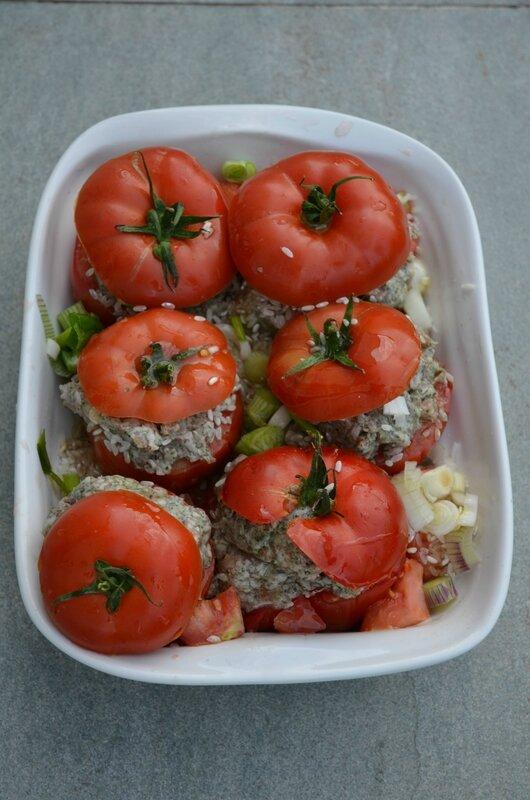 tomates farcies avant cuisson