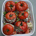 Réussir les tomates farcies