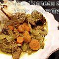 Tajine d'agneau aux fèves et carottes