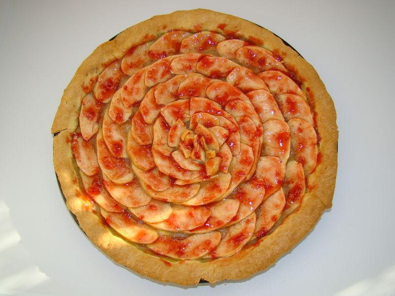 Création à 4 mains, maman et sa grande puce, tarte aux pommes gl