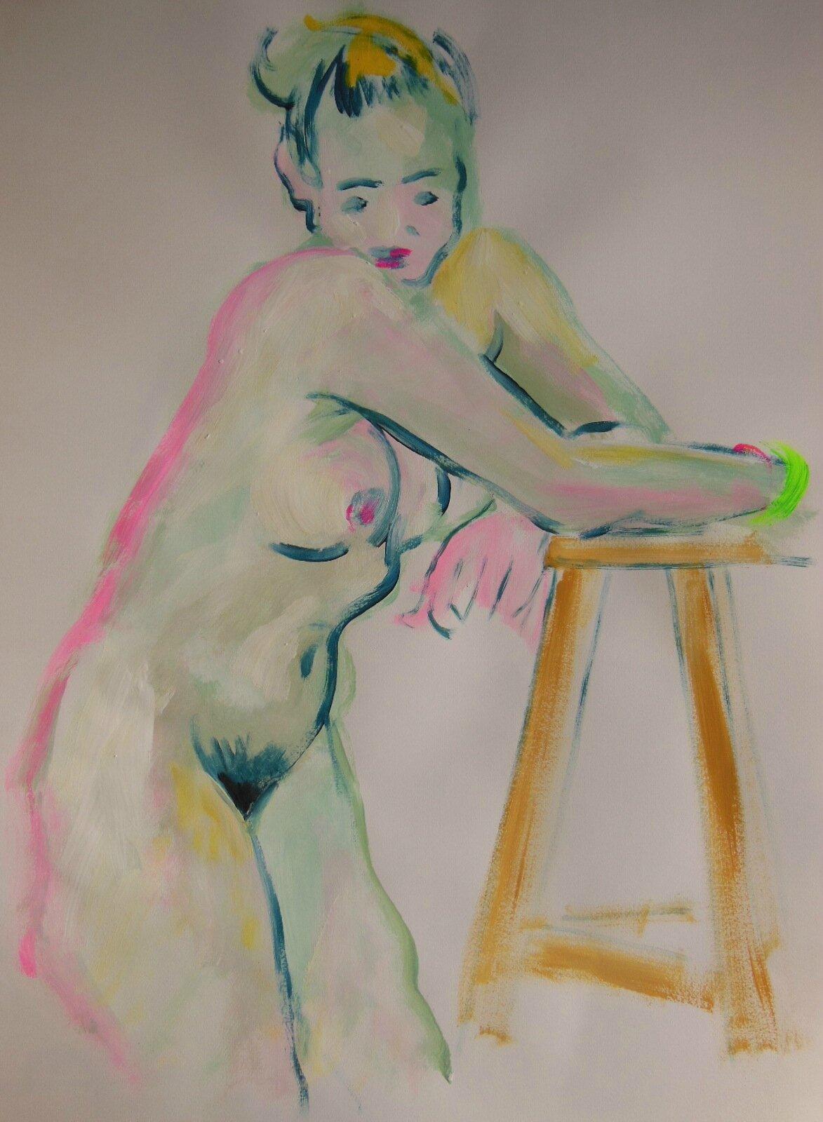 Dessin peinture tableau de nu modèle vivant atelier (14)