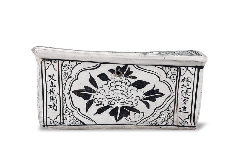 A Slip-Painted Cizhou Pillow, Song Dynasty, 960-1279