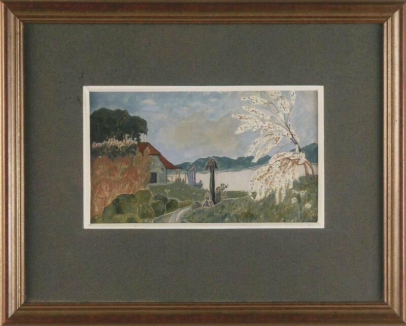 Première œuvre, gouache de 1923