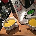 Soupe de potiron et champignons