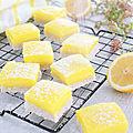 Carrés citron / lemon squares (vegan)