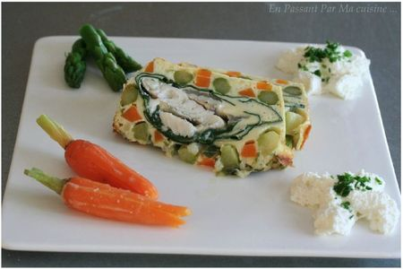 terrine de turbot aux légumes de printemps