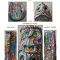 page 10 2013-TOTUM 64 SCHMIMBLOCK'S masks 13cm x 8,5 cm gouache T7 sur argile