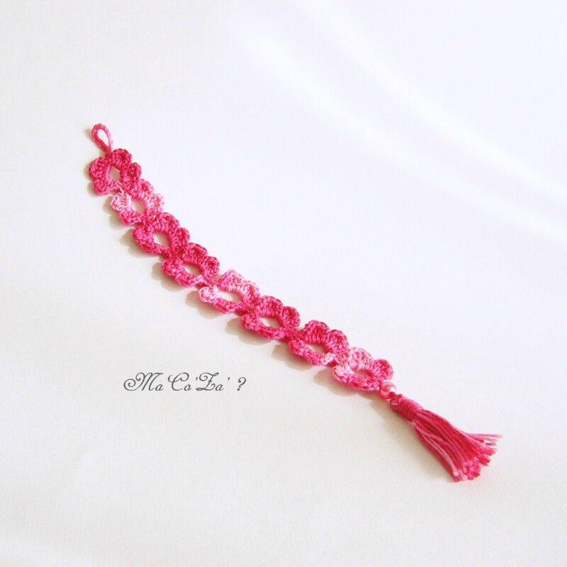 marque page bracelet au crochet 3