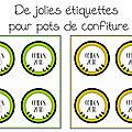 Des étiquettes pour pots de confiture de coings free printable ou free silhouette cameo ...