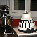 Gâteau KitchenAid et le robot assorti