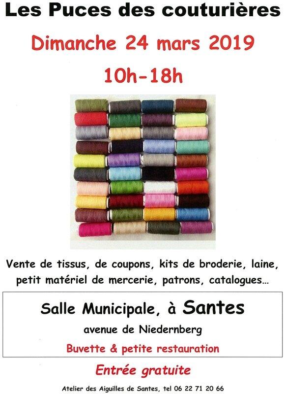 affiche Puces Couturières Santes 24mar2019 (1)