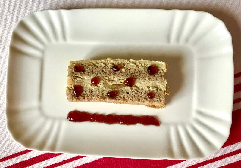 opéra de foie gras/gelée de vin chaud