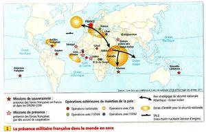 présence militaire française dans le monde
