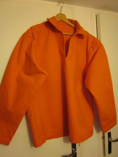 Vareuse ABEL (mixte) en toile de coton orange (2)