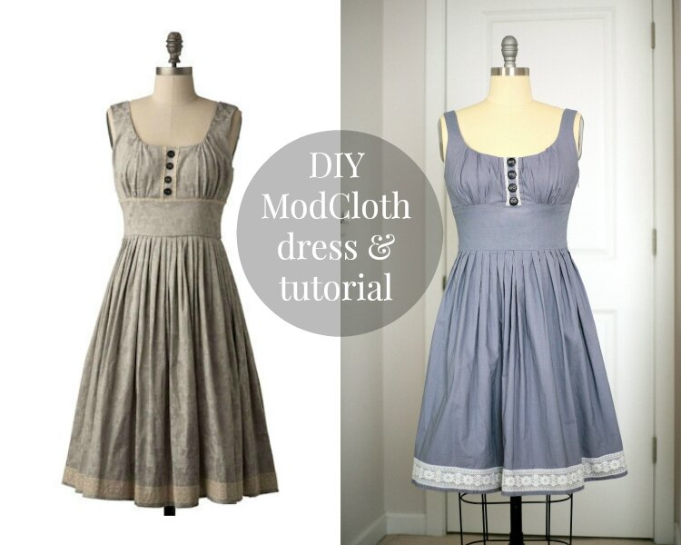 DIY grey and lace ModCloth dress tutorial