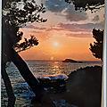 06 cote d'azur - coucher soleil - écrite