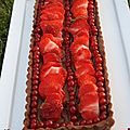 Tarte tout chocolat aux fruits rouges