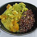 Curry de courge, romanesco et pois chiches
