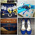 Idées pour un mariage à thème bleu et rétro