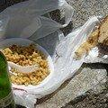 le repas du randonneur au sommet