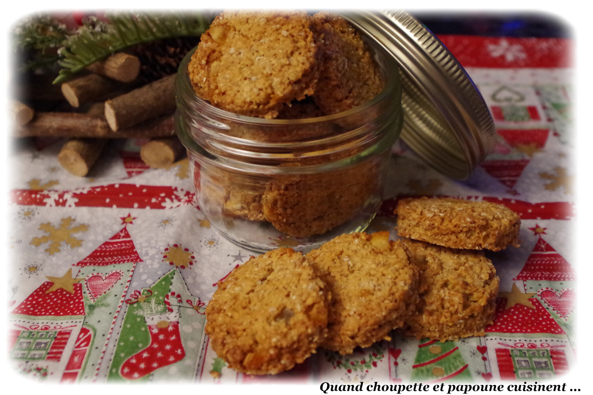COOKIES AUX FLOCONS D'AVOINE ET ECORCES D'ORANGE CONFITES