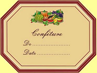 Etiquette confiture 9