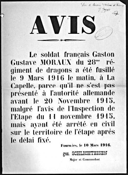 MORAUX Gaston Gustave