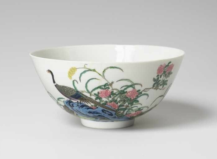 China, Qing Dynasty, Yongzheng Period (1723-30), 1723-25, porcelain with melted colors of the famille rose
