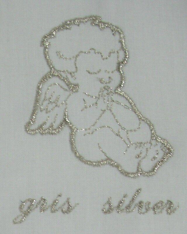 Un ange passe, écharpe de baptême en lin personnalisée, linge blanc de  cérémonie, fil argenté métallique par AMD à Coudre 3de437fb283