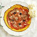 Pizza sans pâte {ou comment ruser pour alléger un peu la note}