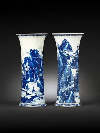 A_pair_of_large_blue_and_white_flaring_vases