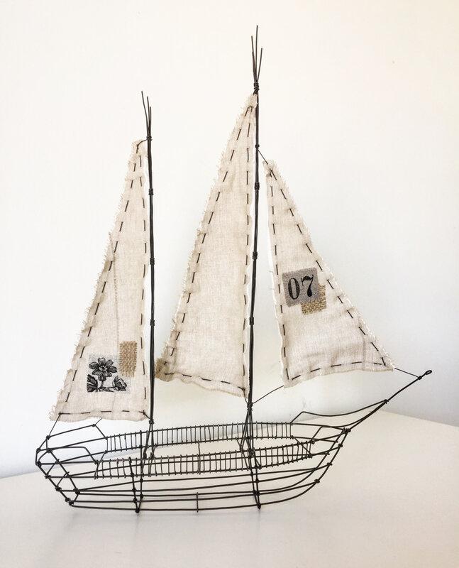 Prendre le large, larguer les amares, mettre les voiles, fil de fer, wire boat, bateau fil de fer, trois fois rien